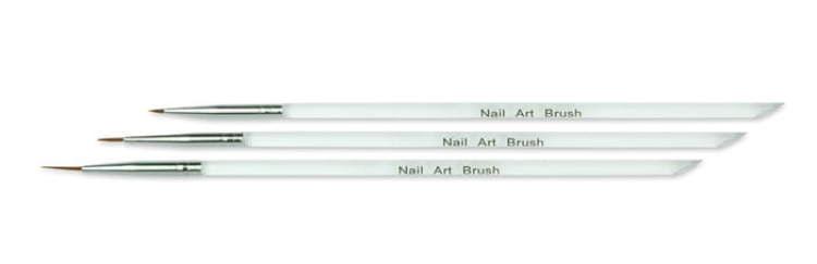 Σετ Πινέλων Nail Art (3τμ)